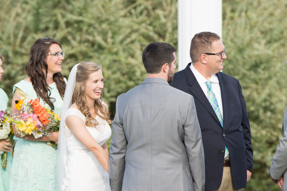 sinkland farms wedding ceremony
