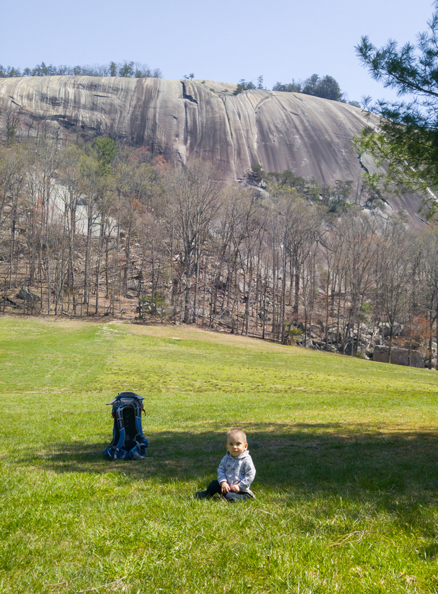 Early Spring hike in Stone Mountain State Park