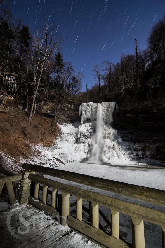 frozen cascade falls pembroke