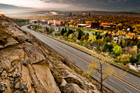 Billings montana from above 27th st at sunrise