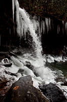 A stop action image of the upper falls in Twin Falls State Park.