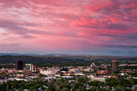 Colorful sunrise over Billings montana