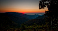 An HDR sunrise from skyline drive.