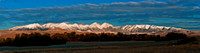 Early Morning Light on the Crazy Mountains - Panorama.