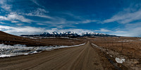 County Road in the Crazy Mountains- Panorama