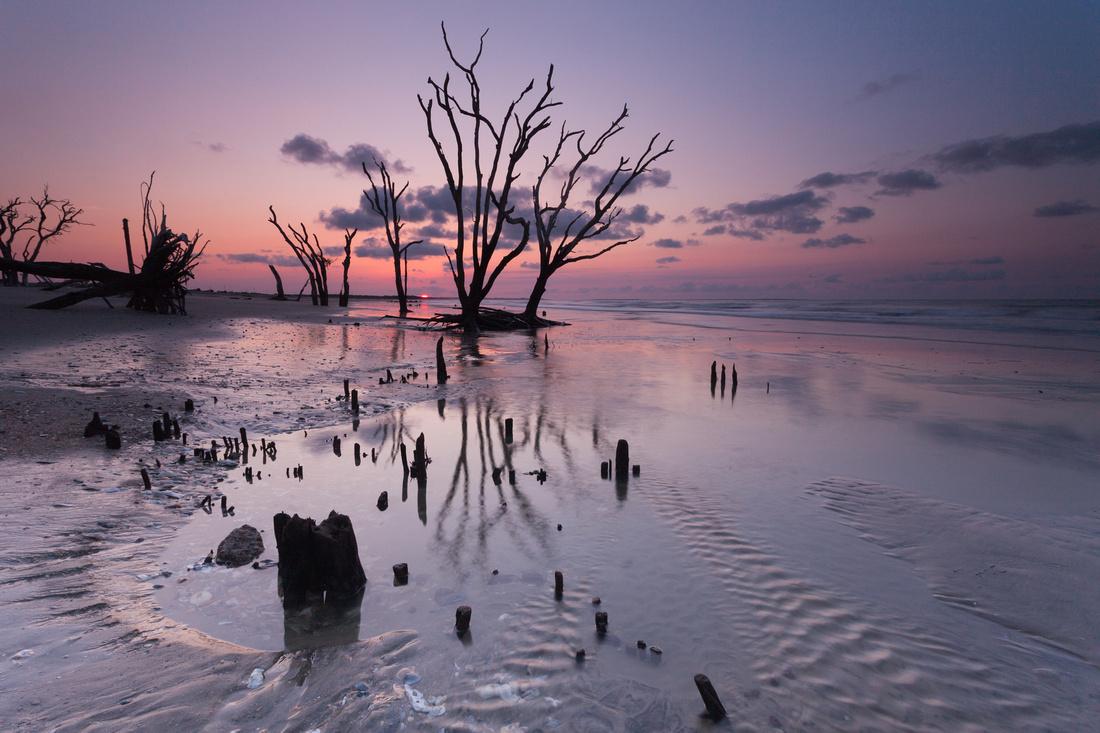 Sunrise On Boneyard Beach Edisto Island Sc