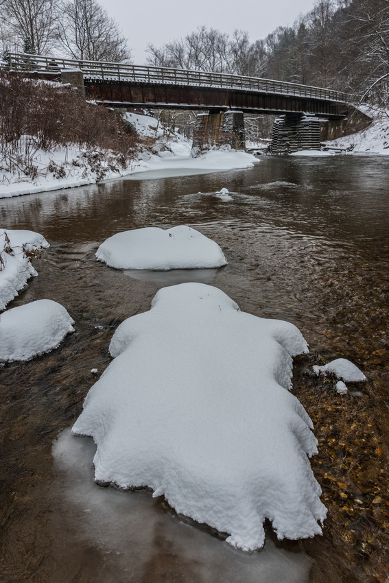 New River Trail State Park in Winter