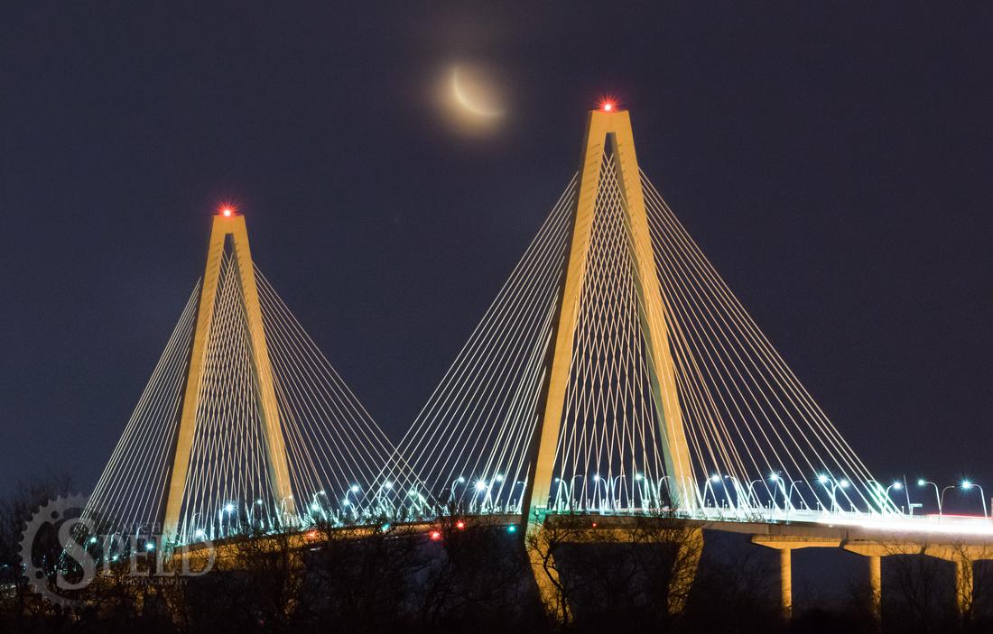 Arthur Ravanel Jr. Bridge Crescent Moon