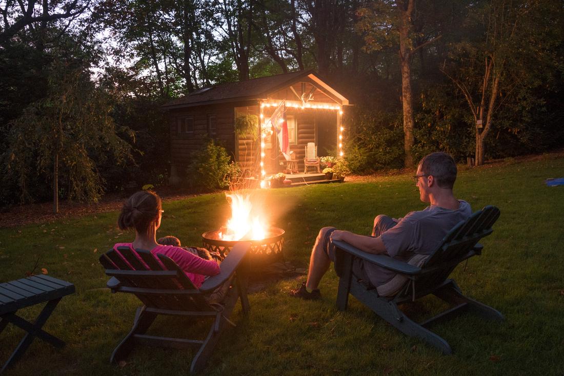 Sitting around Campfire