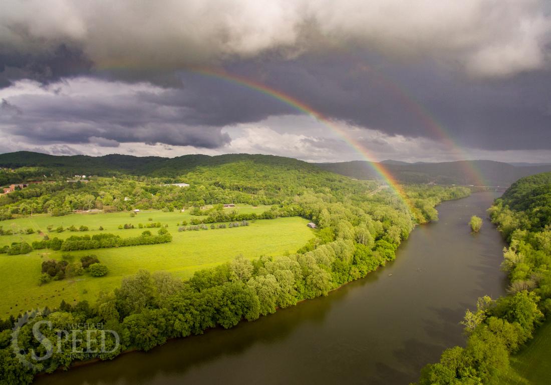 Rainbow over New River