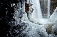 Icicles form underneath Twin Falls