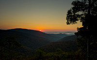 Sunrise of skyline drive.