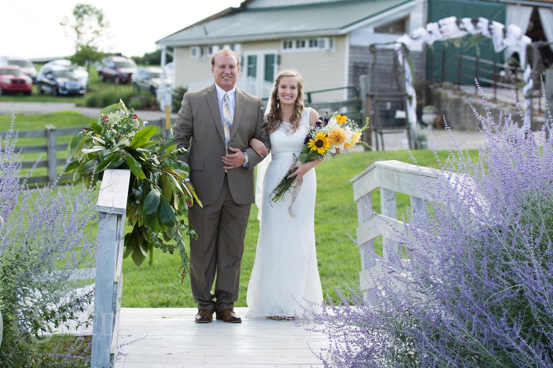 sinkland farms wedding ceremony
