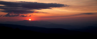 Sunrise from the Rhododendron Trail in Grayson Highlands State Park.
