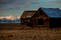 An old homestead near Molt, MT at sunrise.